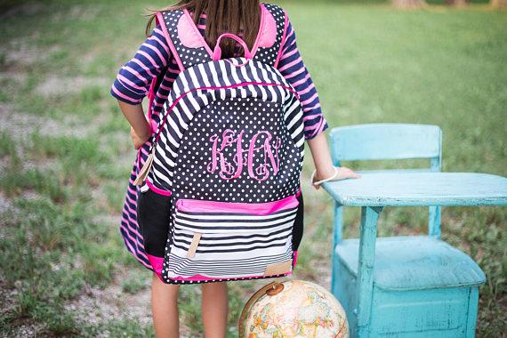 e262d343fe3c SALEMonogrammed Backpack Personalized Backpack Monogrammed Book Bag  Jadelynn Brooke Back to School Teen Backpack Girls Book Bag TBNRHYKYSC 4